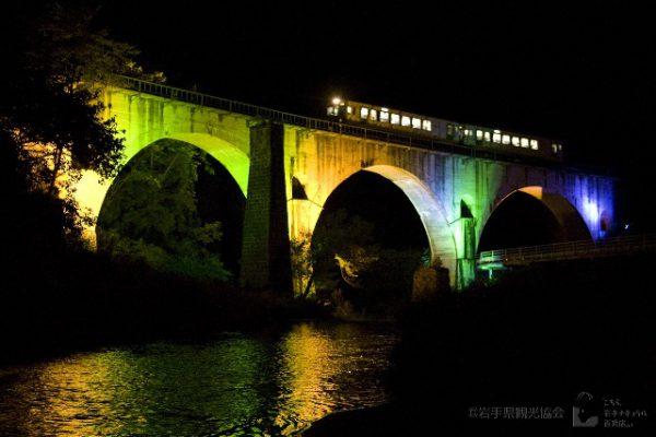 めがね橋のライトアップ