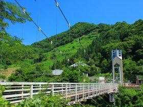 山形県 道の駅月山の吊橋