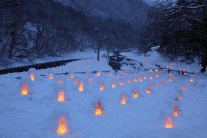 日光の湯西川ライトアップ