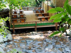 西米良温泉の川床