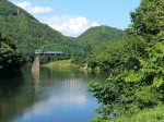 磐越西線「阿賀野川と山間部の夏景色」