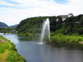 夏の胎内川