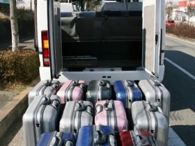 リアトランクスペースにスーツケースを積んでみた