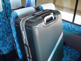スーツケースを座席に置いてみた