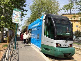 トラムバス乗り場