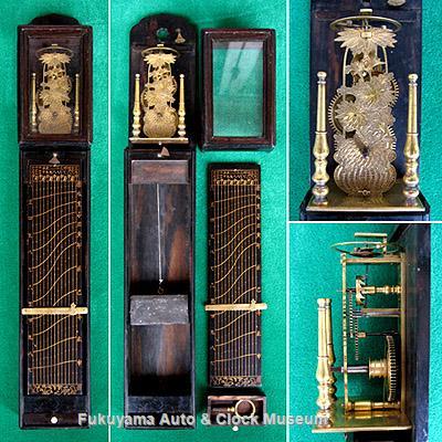 波板式文字板の尺時計