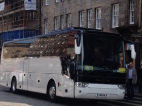 街中で見かけた貸切バス