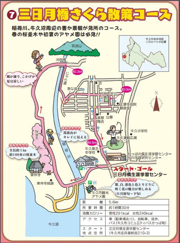三日月橋さくら散策コース