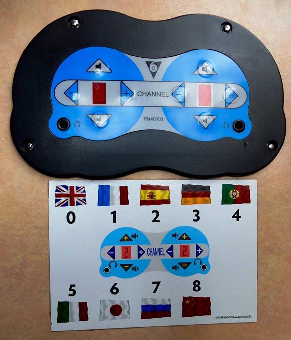 9か国語対応のイヤホンガイド付き