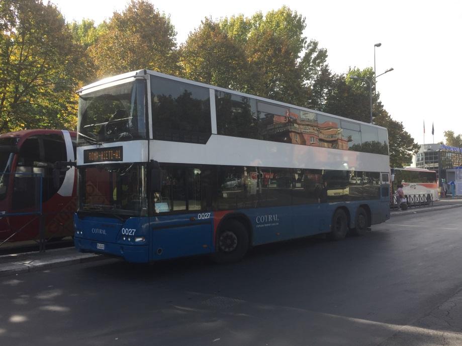 ローマの2階建てバス