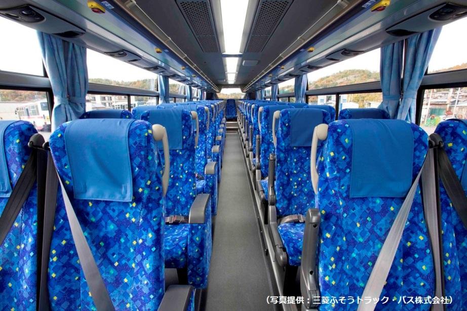 都市間高速バスの車内の様子