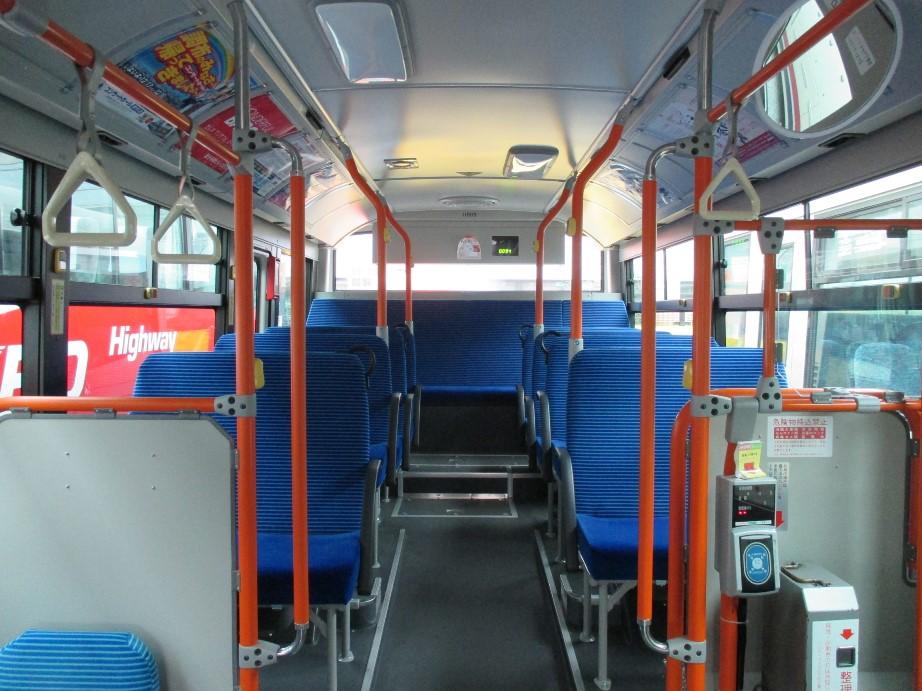 ノンステップバスの座席