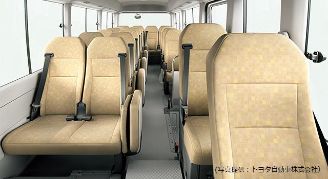 コースターLXの座席
