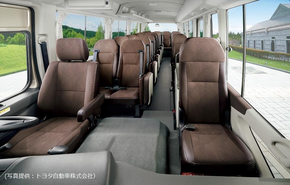 新型コースターEXの座席