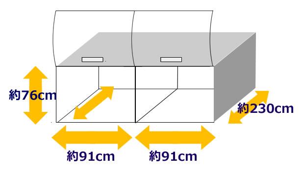 中型バスのトランクサイズ