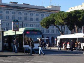トロリーバス90 番の始発のバス停