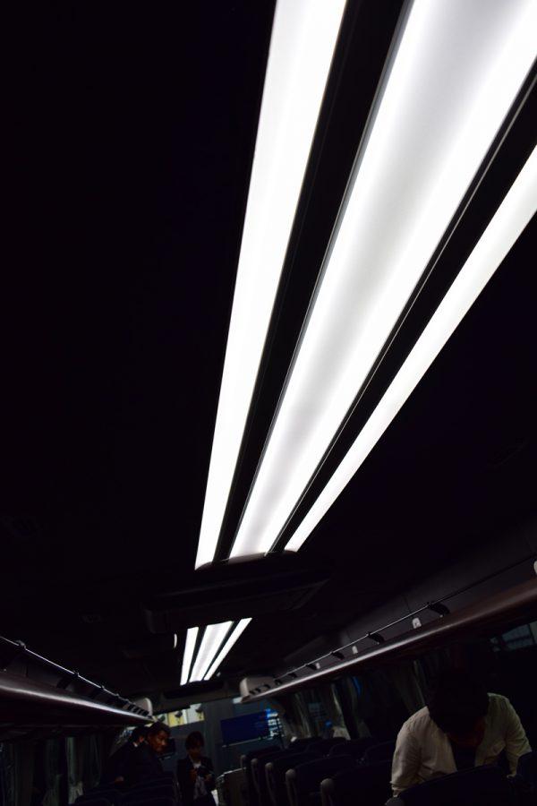 エアロエースの天井はブラック