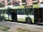 ローマのラッピングバス例(フルラッピング)