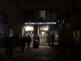 ヴィクトリア・コーチ・ステーションの中へ入ります