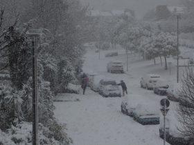 2月末に記録的な大雪が降ったローマの様子
