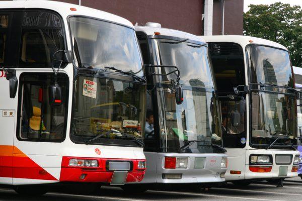 浅草の観光バス専用駐車場