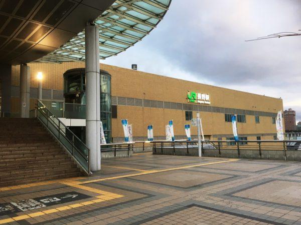 長野駅東口に到着