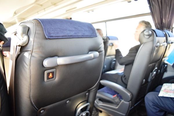 シートベルトを装着していないとランプが赤く点灯