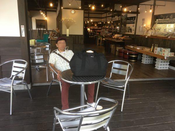 奈良井宿の軽食コーナー