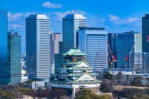 大阪城とビジネスパーク