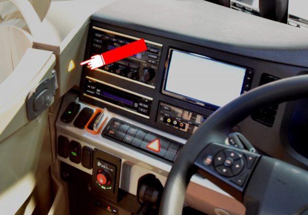 運転席左側にある警告灯