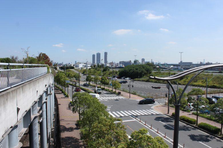 USJ駅から見た舞洲の風景