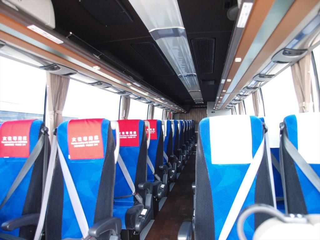 西日本ジェイアールバス・バス車内の様子
