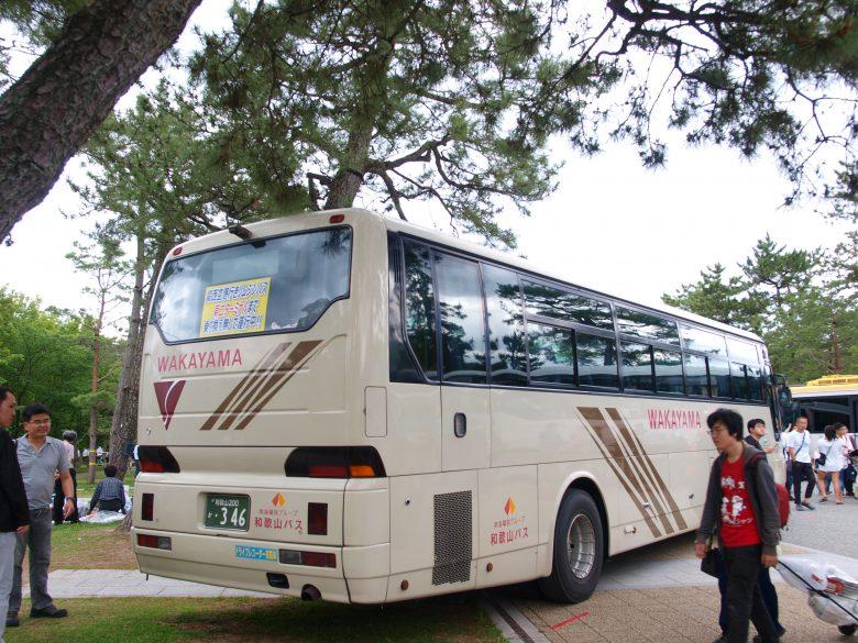 和歌山バス・三菱エアロバスを展示