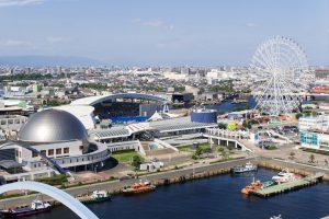 名古屋港ガーデンふ頭 名古屋港水族館と名古屋港シートレインランド