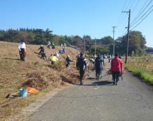 kfopによる南相馬地区でのボランティア活動の様子