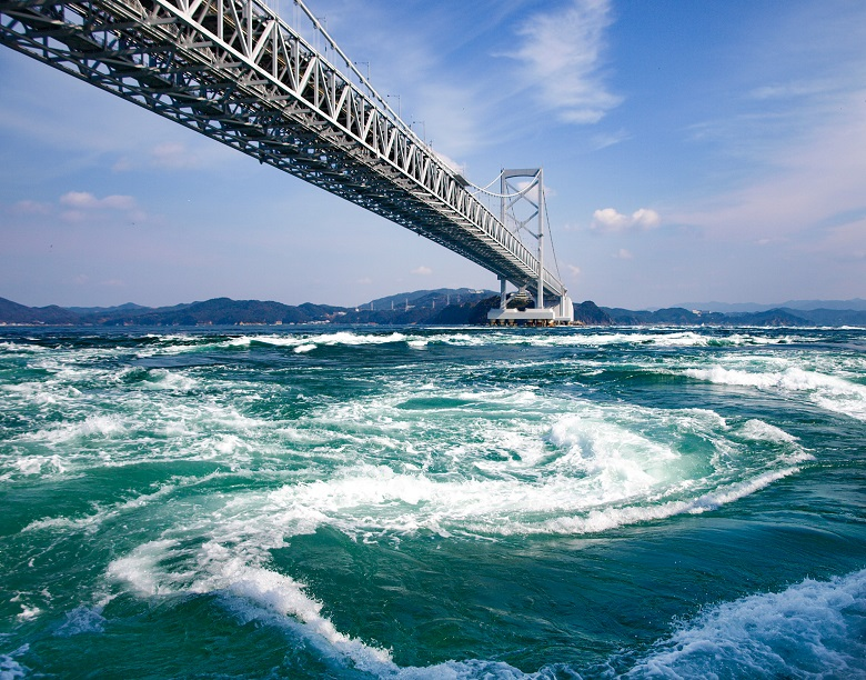 鳴門海峡の渦潮
