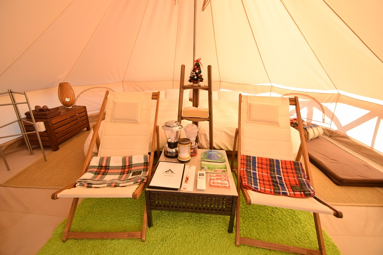 豪華なキャンプ体験が楽しめるグランピング