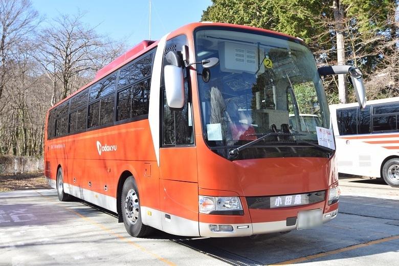 ロマンスカーGSE(70000形)ラッピングのバス