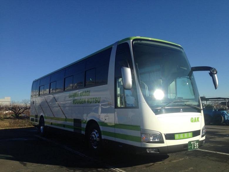 群馬赤城交通が所有する大型観光バス