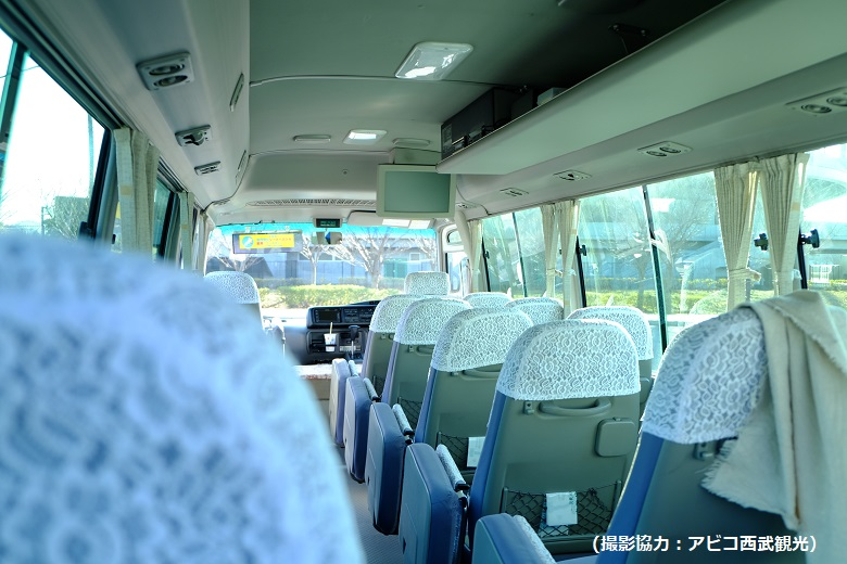 種類が同じでも仕様がことなる貸切バス