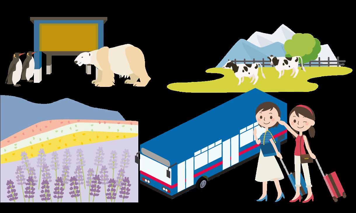 北海道日帰り貸切バスツアーの料金計算方法