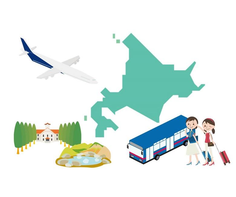 北海道出発1泊2日旅行で貸切バスを借りた場合の料金計算方法は?