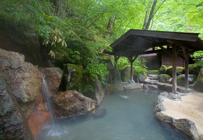 奥飛騨温泉の露天風呂