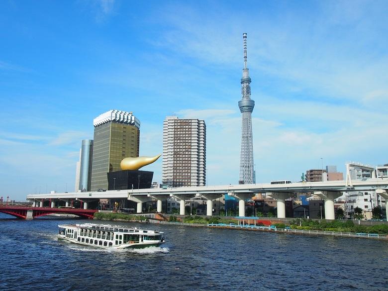 東京バスツアーの目玉として屋形船