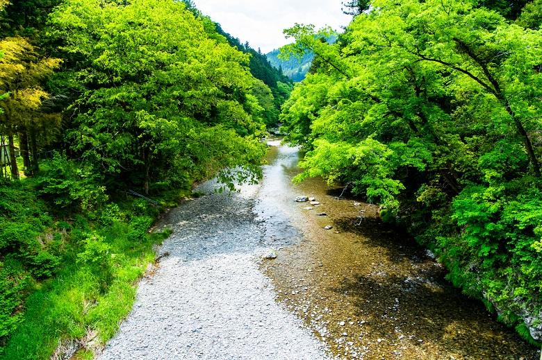 都内とは思えない自然豊か秋川渓谷