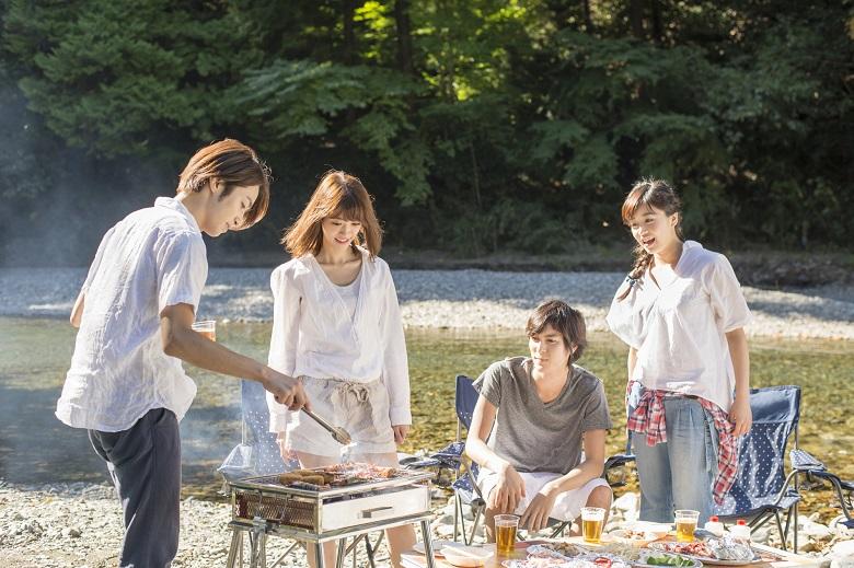 秋川渓谷は人気のBBQスポット