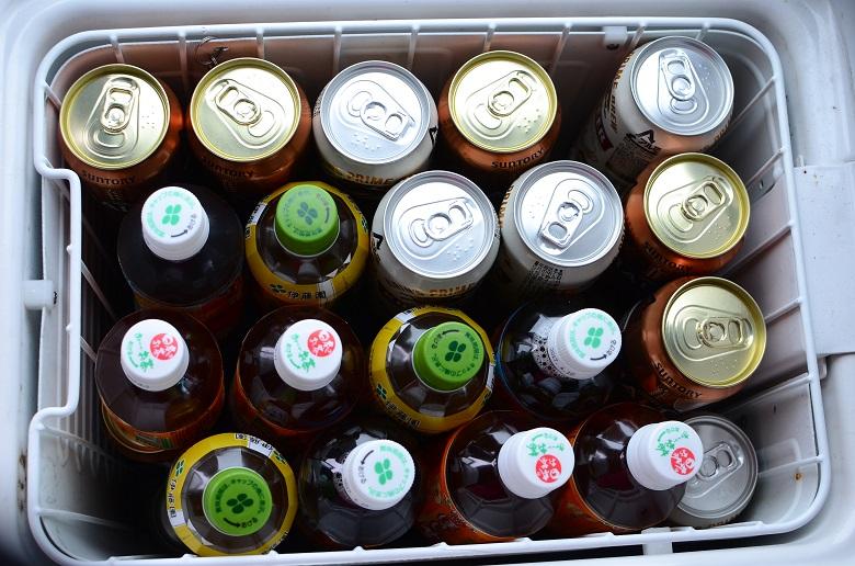 マイクロバスの冷蔵庫に入る数