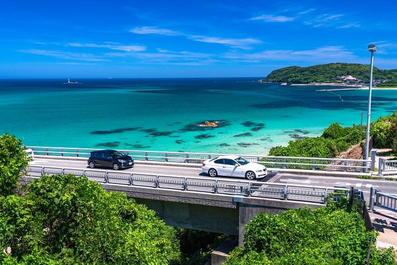 角島大橋からの眺め