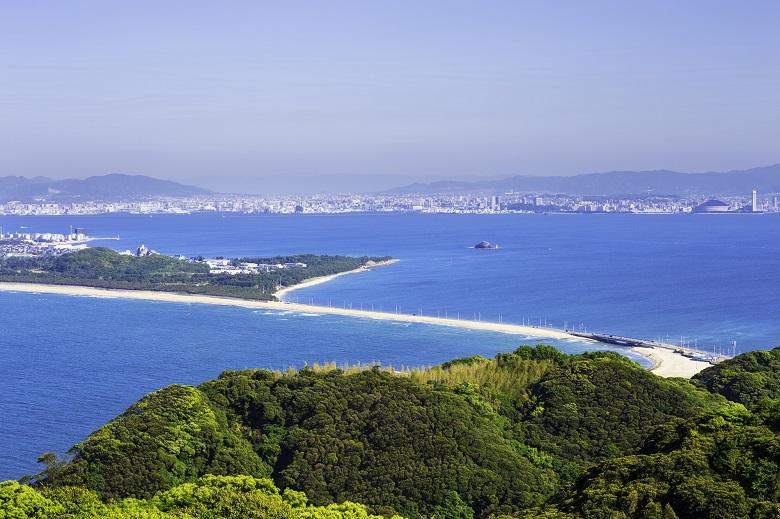 志賀島の潮見展望台からの眺め