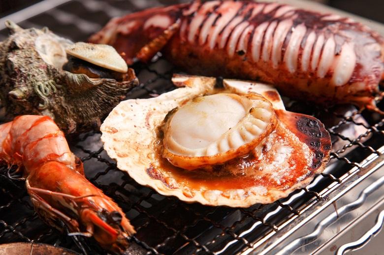 海鮮BBQが楽しめる